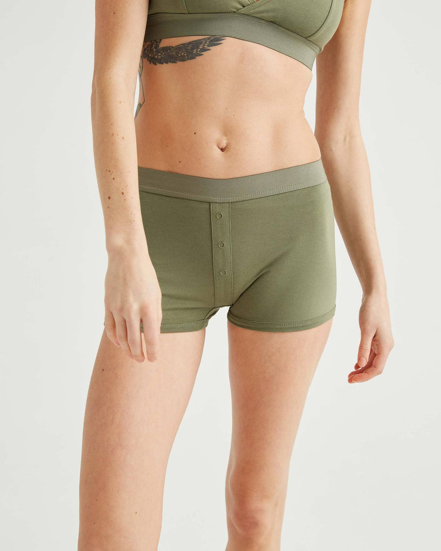 Femme Boxer - Surplus Green-Richer Poorer-MONIKER GENERAL