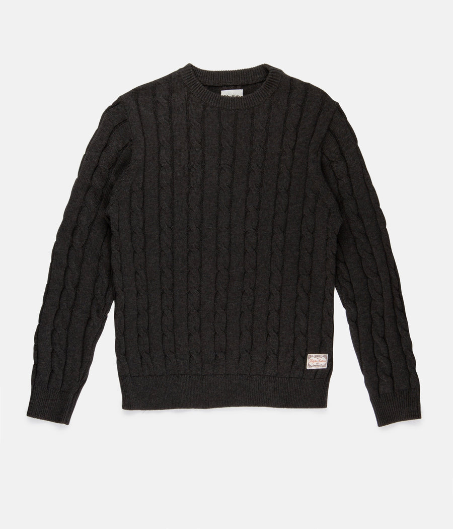 Fisherman Knit - Charcoal-Rhythm.-MONIKER GENERAL