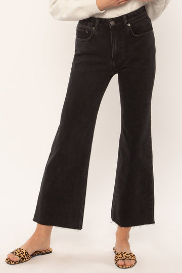 Gabi Crop Flare Denim Pant - Black-Amuse Society-MONIKER GENERAL