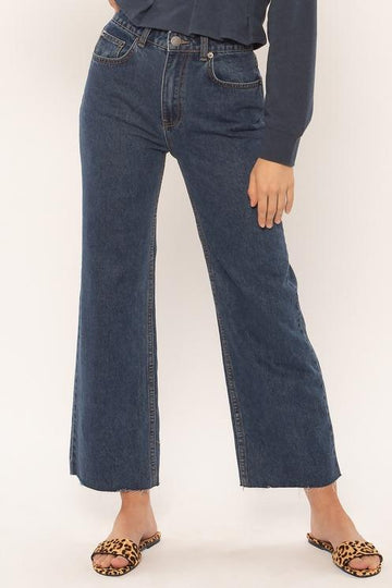 Gabi Crop Flare Denim Pant - Vintage-Amuse Society-MONIKER GENERAL