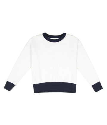 Helsinki Pullover in Vanilla-Rhythm.-MONIKER GENERAL