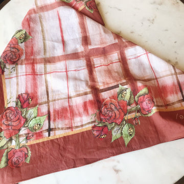 Rose Plaid Bandana