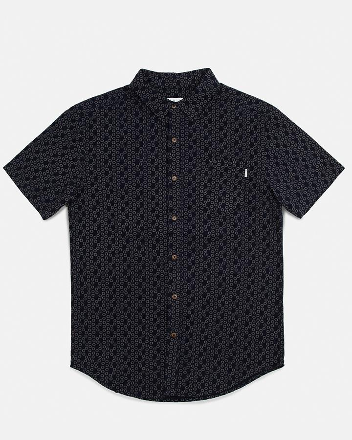 Indigo Flower Shirt in Indigo-Rhythm.-MONIKER GENERAL