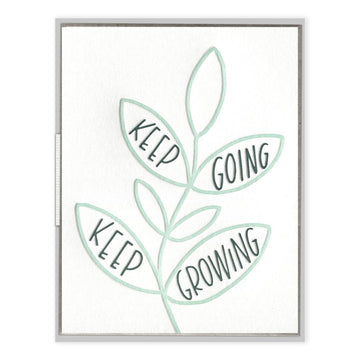 Keep Going Keep Growing Card-Ink Meets Paper-MONIKER GENERAL