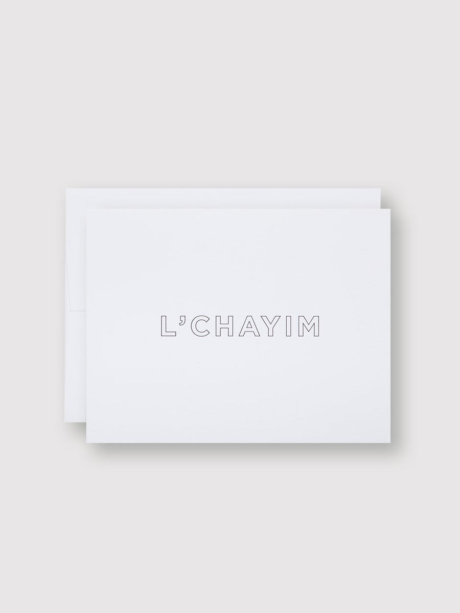 L' chayim Card-Of Note-MONIKER GENERAL