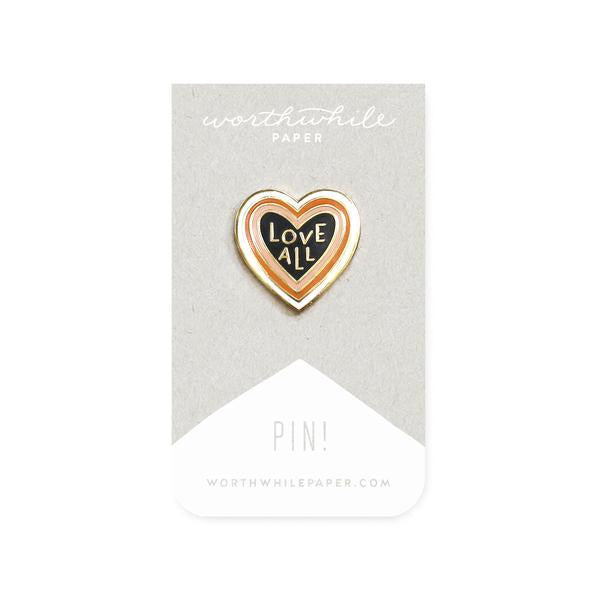 Love All Enamel Pin-Worthwhile Paper-MONIKER GENERAL