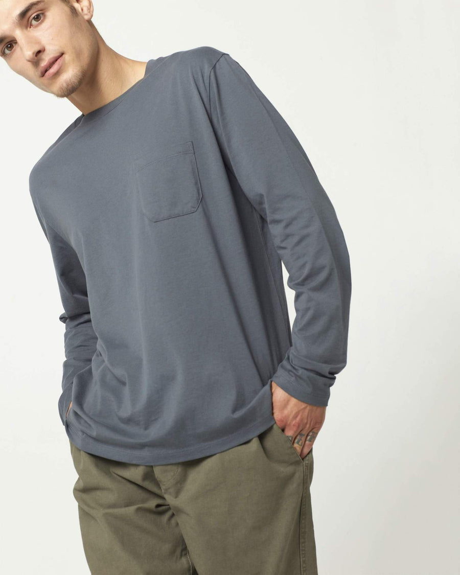 Mens LS Pima Pocket Tee - Shade-Richer Poorer-MONIKER GENERAL