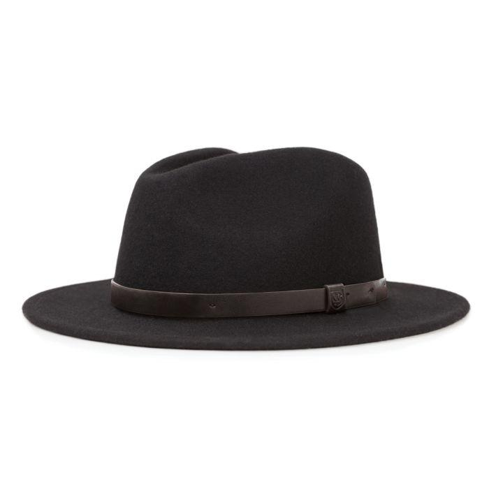 Messer Fedora - Double Black-Brixton-MONIKER GENERAL