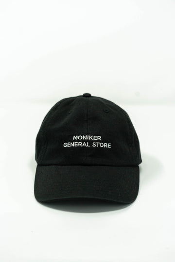 Moniker All Caps Hat in Black