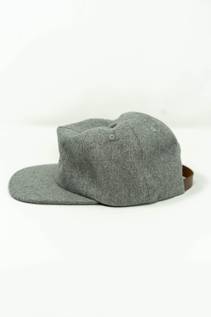Moniker Flag Hat in Heather Grey Wool