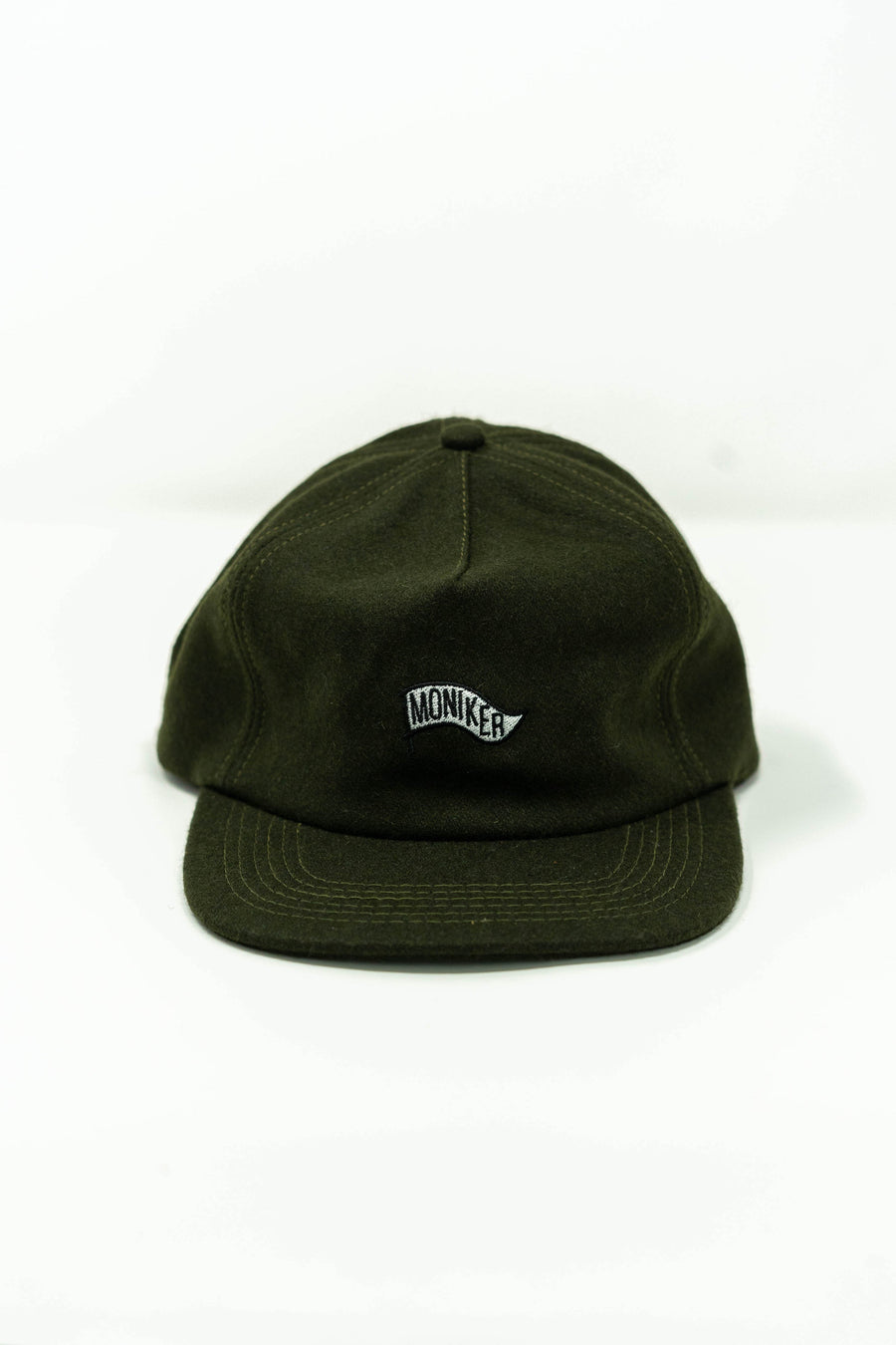 Moniker Flag Hat in Olive Wool