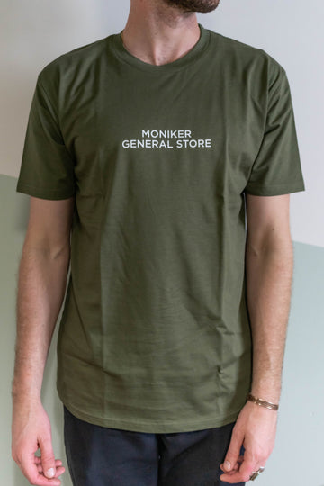 Moniker General Store Tee in Olive-Moniker General-MONIKER GENERAL