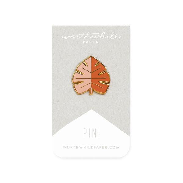 Monstera Leaf Enamel Pin-Worthwhile Paper-MONIKER GENERAL