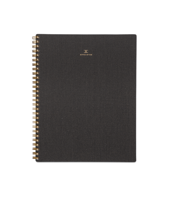 Notebook Charcoal Gray Lined-Appointed-MONIKER GENERAL