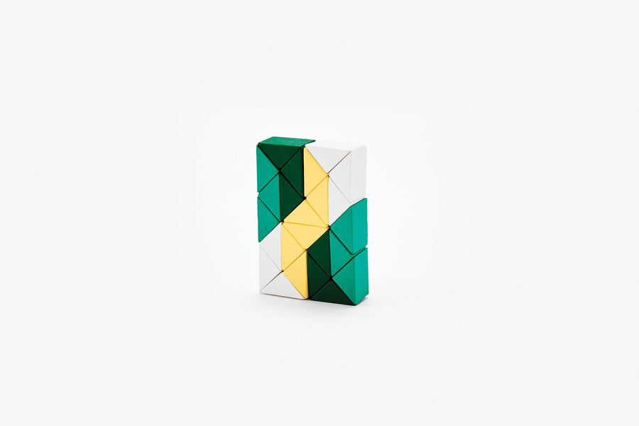 Small Snake Block in Yellow/Green-Areaware-MONIKER GENERAL
