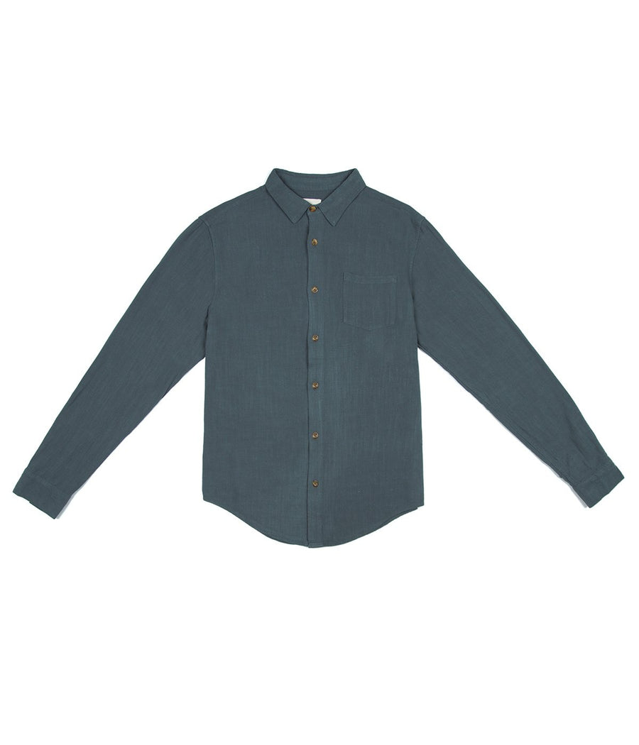 Sunday LS Shirt in Teal-Rhythm.-MONIKER GENERAL