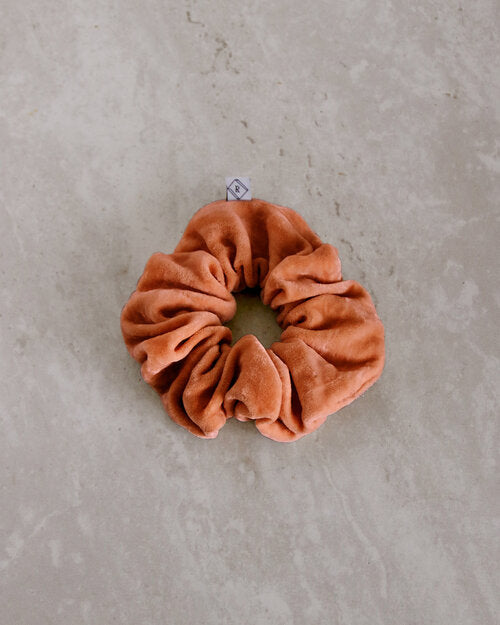 Naturally Dyed Silk Velvet Scrunchies