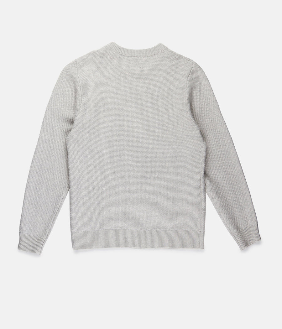 Textured Knit - Stone-Rhythm.-MONIKER GENERAL