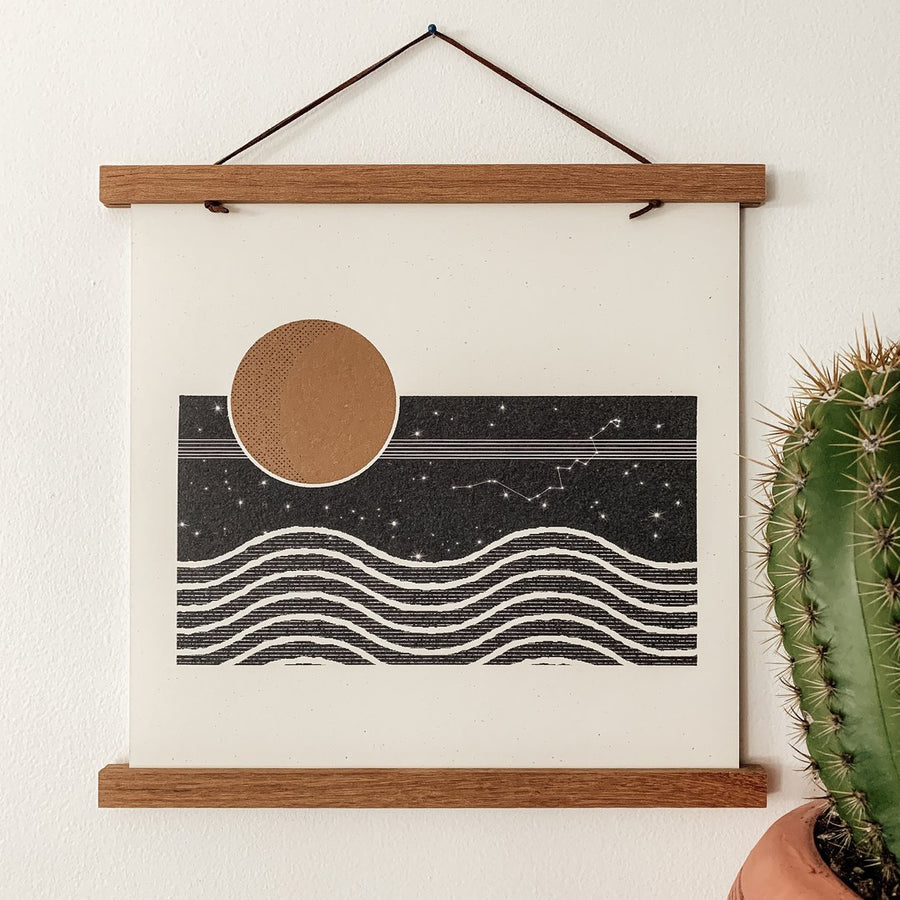 The Moon and Her Waves Print-ColorbloKC-MONIKER GENERAL