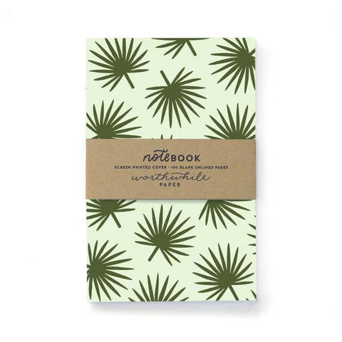 Tropical Palm Leaf Pattern Notebook-Worthwhile Paper-MONIKER GENERAL