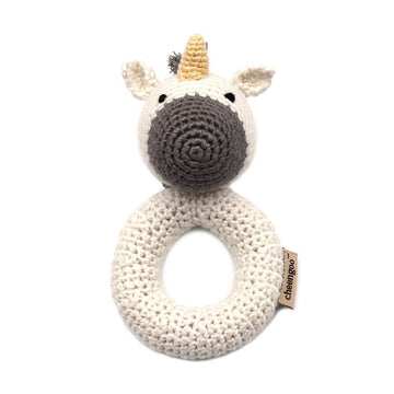 Unicorn Ring Hand Crocheted Rattle-Cheengoo-MONIKER GENERAL