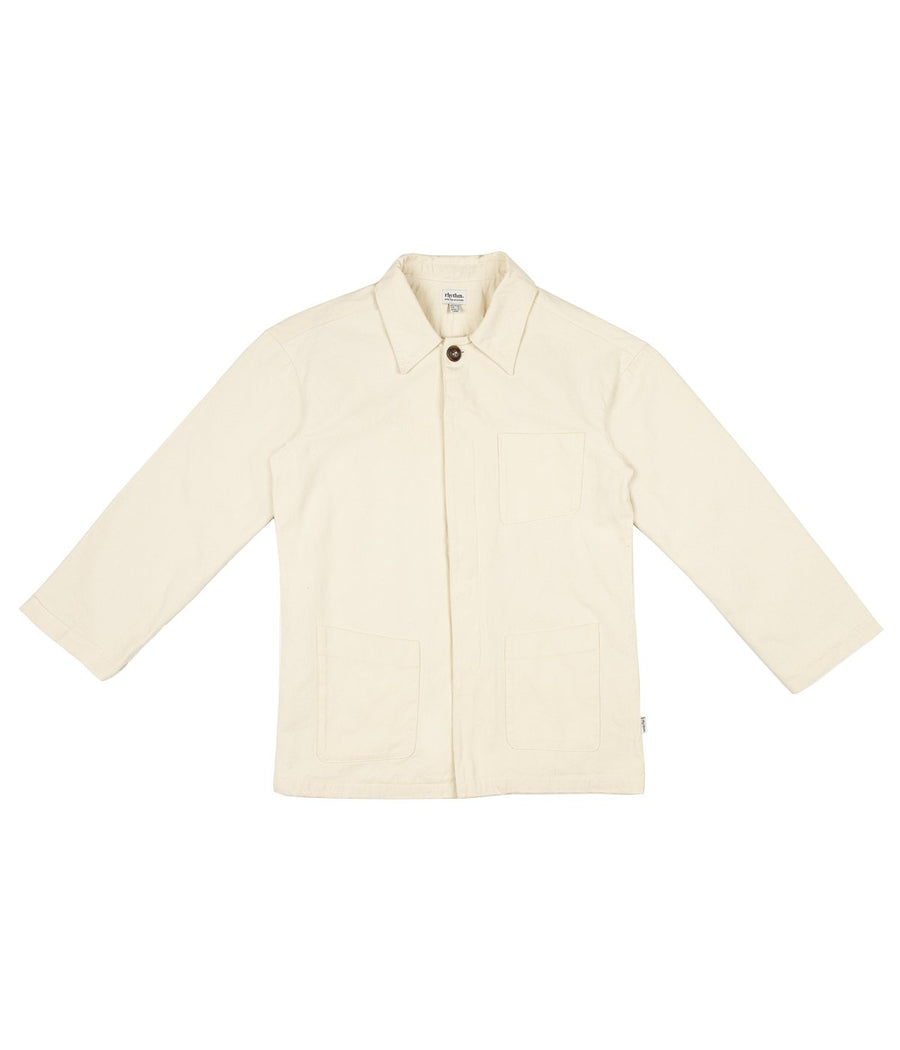 Women's Chore Jacket in Natural-Rhythm.-MONIKER GENERAL