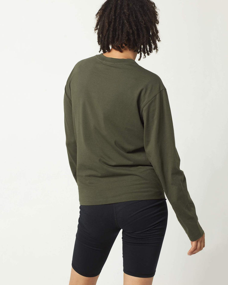 Womens LS Pima Standard Tee - Ivy-Richer Poorer-MONIKER GENERAL