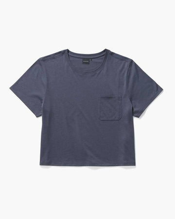 Women's Pima Boxy Crop - Blue Nights-Richer Poorer-MONIKER GENERAL