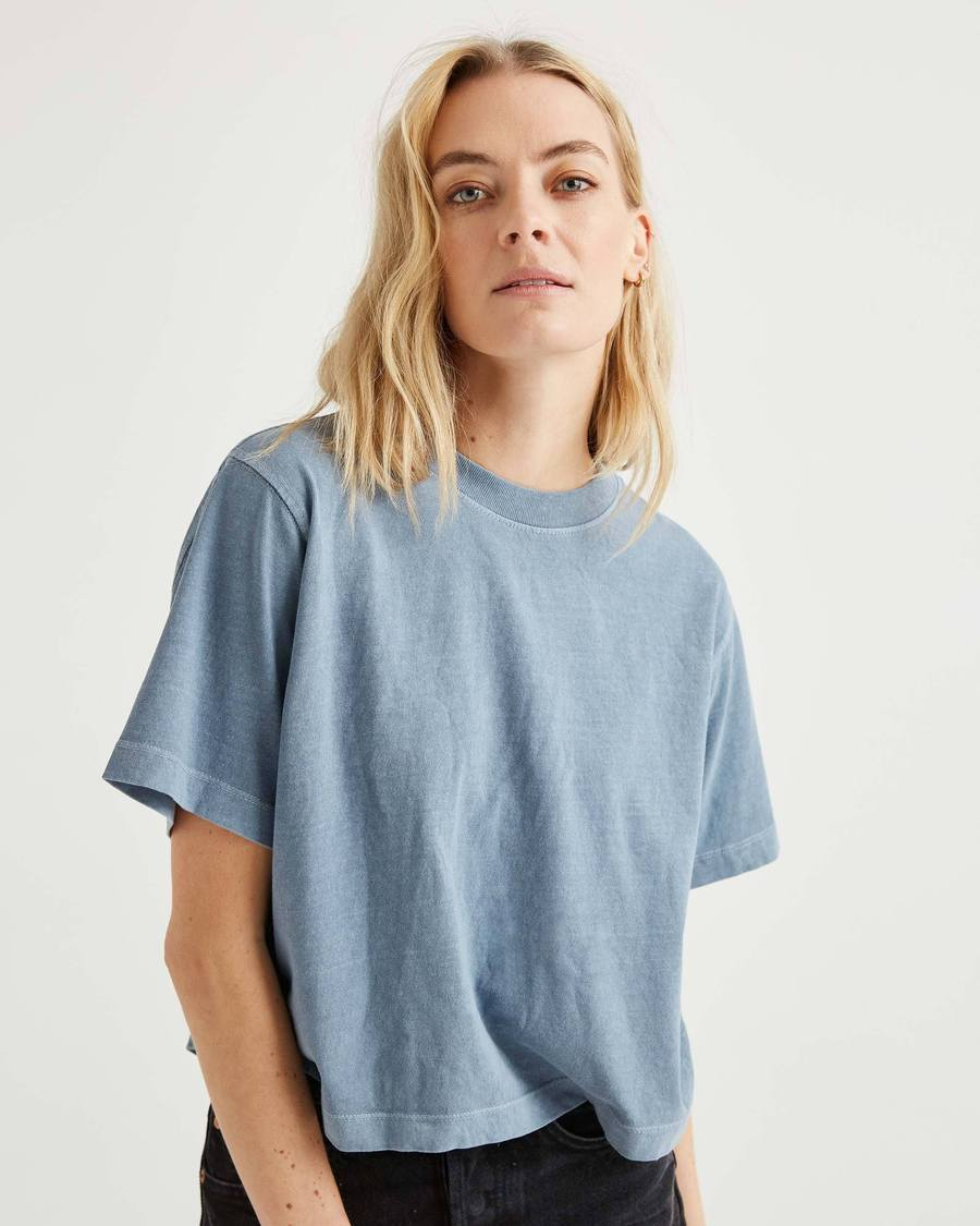 Women's Relaxed Crop - Blue Mirage-Richer Poorer-MONIKER GENERAL