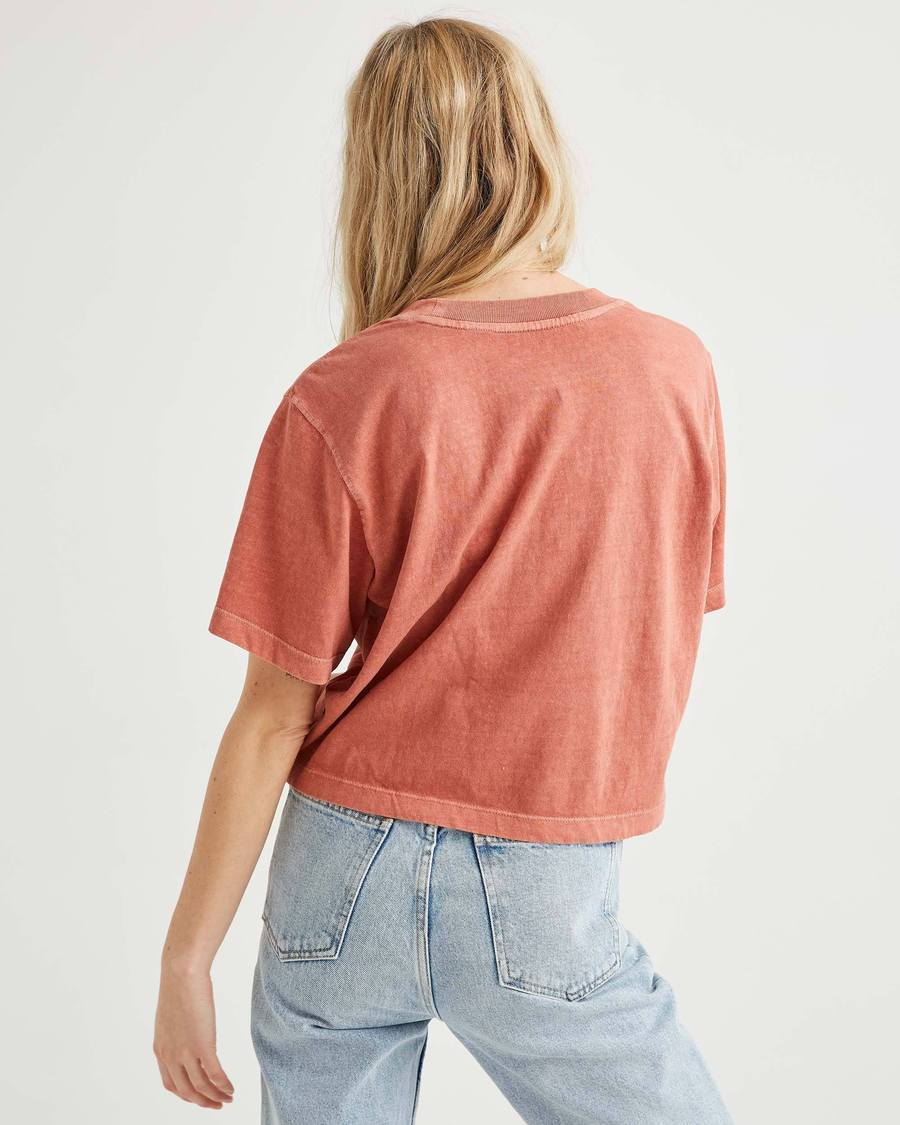 Women's Relaxed Crop - Summer Cinnamon-Richer Poorer-MONIKER GENERAL