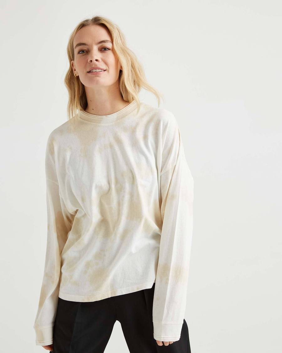 Women's Relaxed Long Sleeve - Washed Out-Richer Poorer-MONIKER GENERAL
