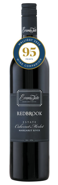 Evans & Tate 2016 Redbrook Estate Cabernet Merlot awarded 95 points in Halliday Wine Companion 2020