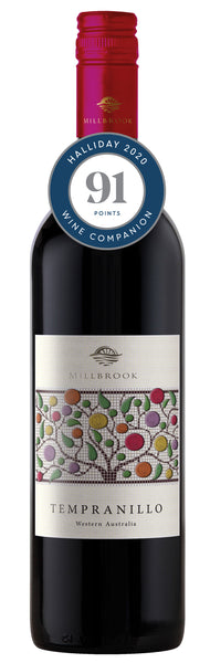 Millbrook Winery 2017 Regional Tempranillo awarded 91 points in Halliday Wine Companion 2020