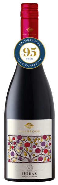 Millbrook Winery Single Vineyard SV Shiraz awarded 95 points in Halliday Wine Companion 2020