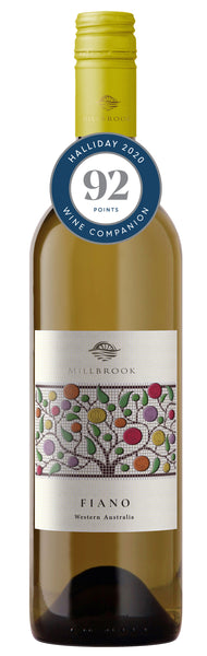 Millbrook Winery 2018 Regional Fiano awarded 92 points in Halliday Wine Companion 2020