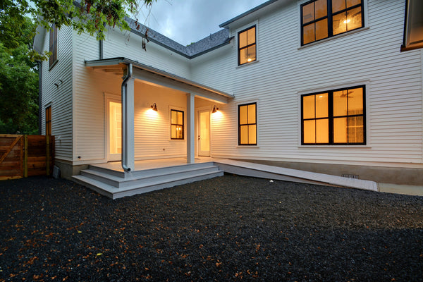Two story modern farmhouse with porch