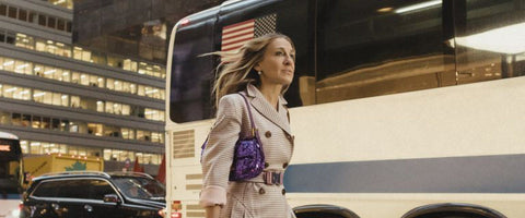 Sarah Jessica Parker in Sex And The City with Fendi Baguette in NYC