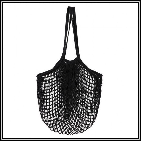 mesh shopper bag long handle