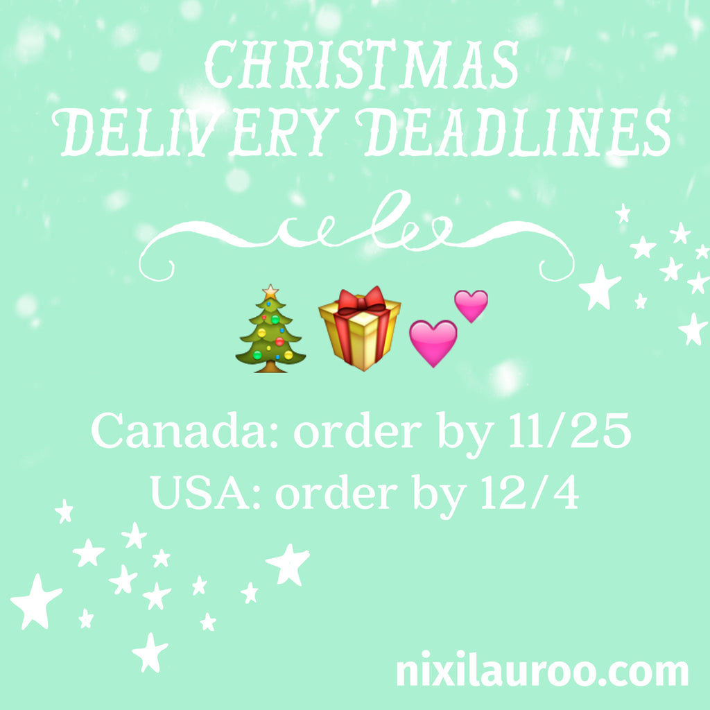 Friendly Reminder--Holiday Order & Shipping Deadlines!!