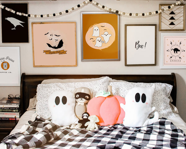 Weighted Ghostie Pillow; Happy Boo