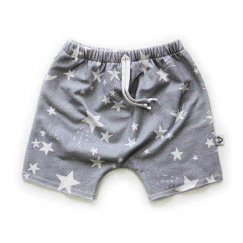 Boy Shorts; Twinkle Stars on Grey