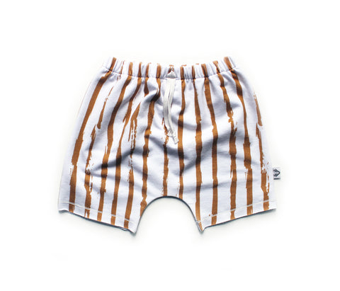Boy Shorts; Bronze Paint Stripe