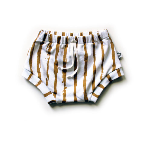 Nixi Shorties; Bronze Paint Stripe