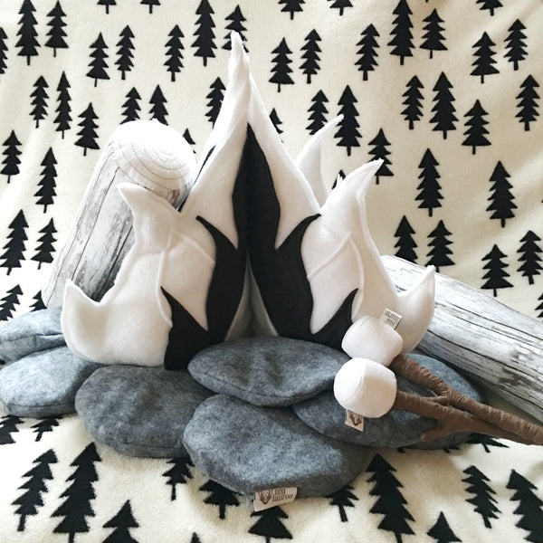 Campfire Play Set; Mod Monochrome || MADE TO ORDER