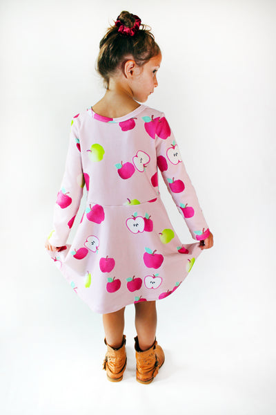 The Margaret Play Dress, Longsleeve; Apple Picking