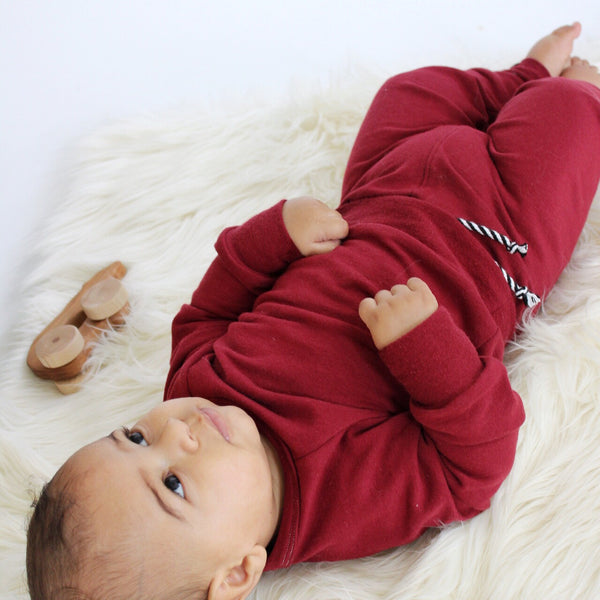 Nixi Lounge Pants: Red Velvet (improved fit)