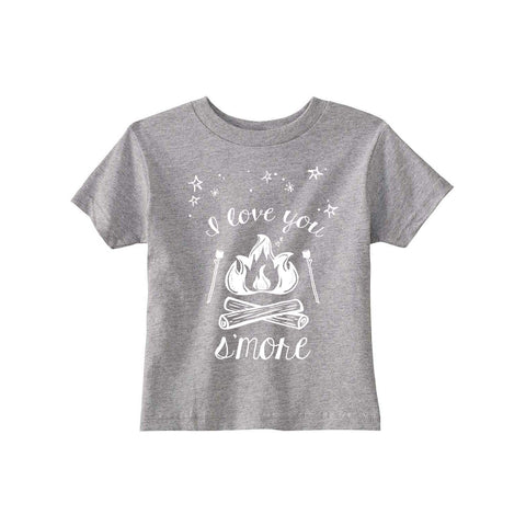 I love you S'MORE toddler tee, grey