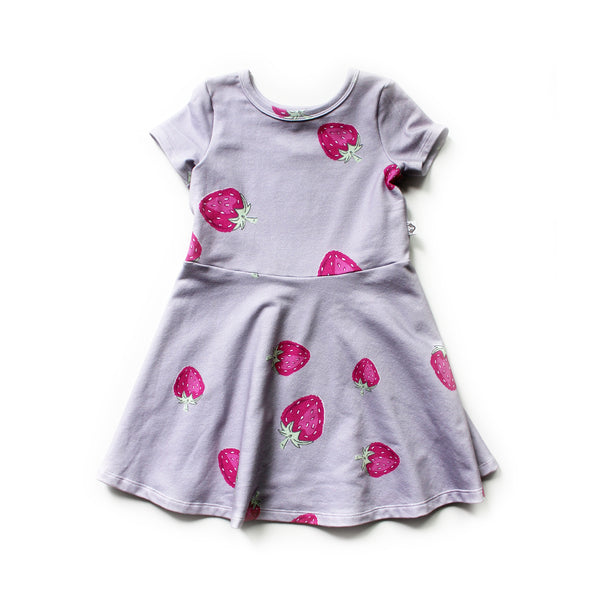 The Margaret Play Dress; Strawberries on Mauve