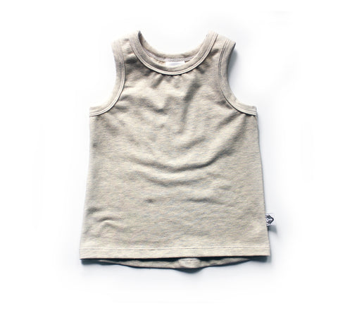 Nixi Classic Tank; Oatmeal Heather