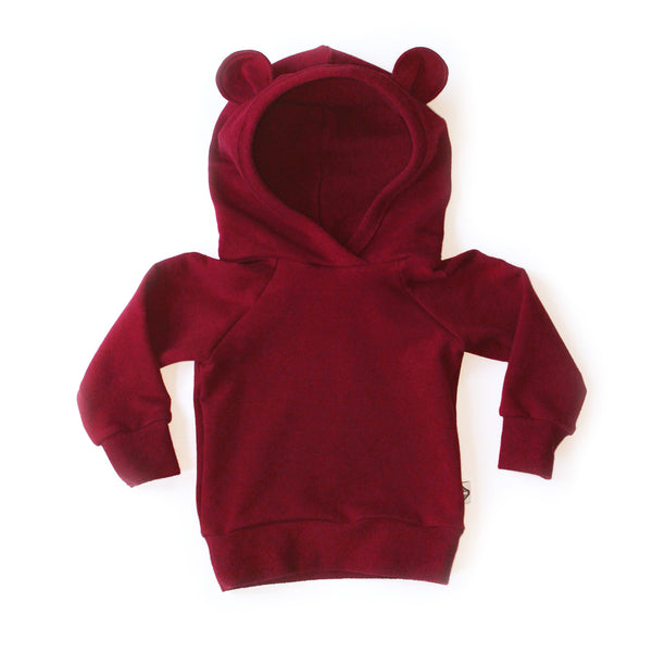 Nixi Ear Hoodie; Red Velvet Teddy Bear